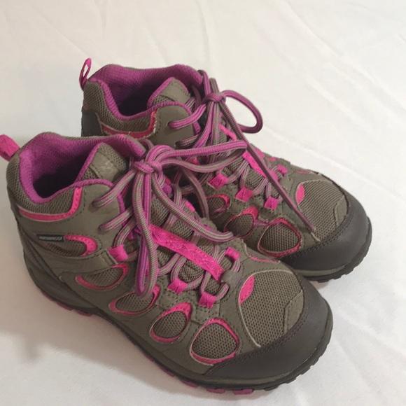 dc0ca2eccf3 Girls Merrell waterproof hiking boots 13 M